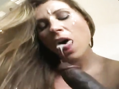 Sexy pale-skinned mom sexwife is ruined by big black cock fucker