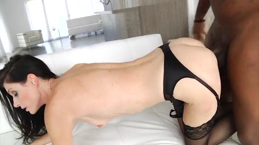 White milf in lingerie rides her bbc lover