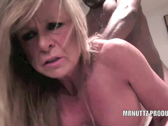 White blonde mature wife gets two loads from her bulls