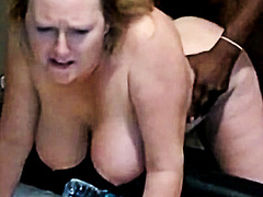 Chubby mature blonde PAWG gets BBC doggystyle